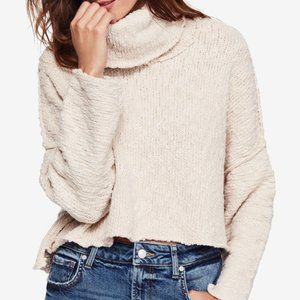 NWT Free People Big Easy Cowl Sweater Top Cream